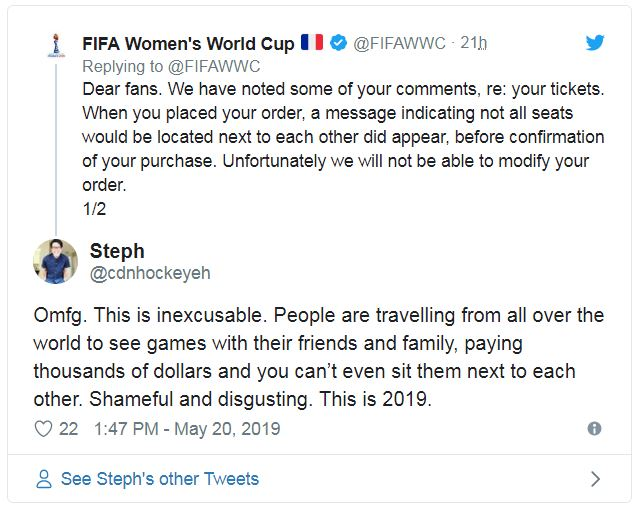 FIFA Womens World Cup Tickets