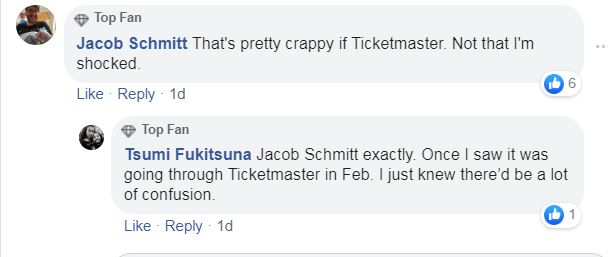 coheed and cambria ticketmaster complaint
